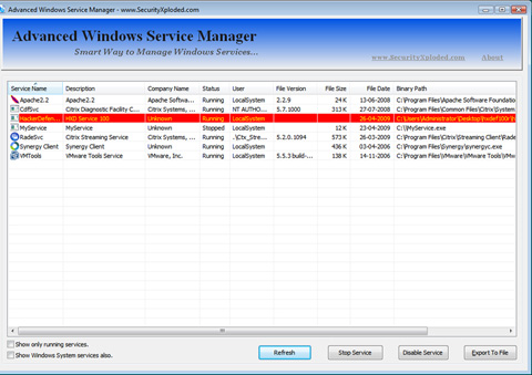 Detecting Hidden Rootkit Services Using AdvancedWinServiceManager