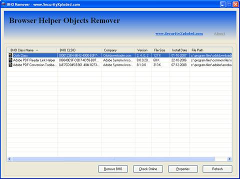 Enhanced BHORemover : Now Quicker & Easier than Earlier