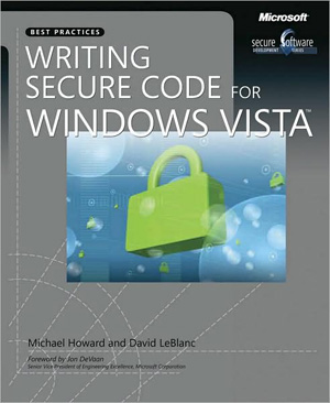 Book of the Month :  Writing Secure Code for Windows Vista