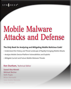 Book of the Month – Mobile Malware Attacks and Defense