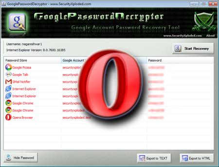 GooglePasswordDecryptor 1.6 with support for Opera