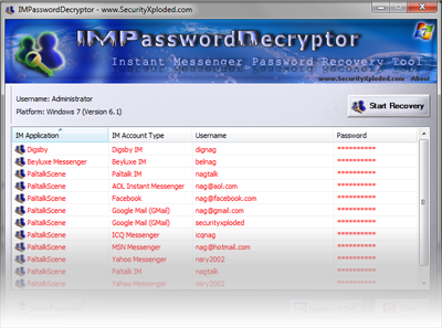 Next Version of IMPasswordDecryptor to Feature 3 more Messengers