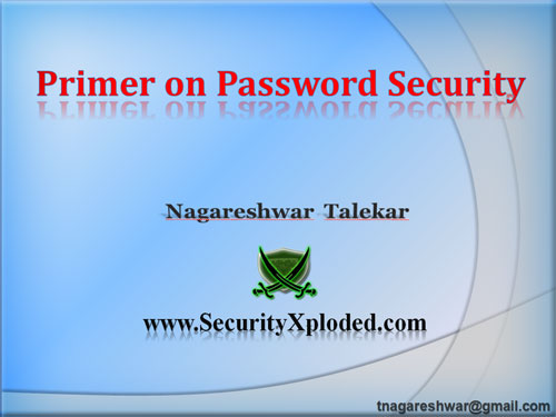 'Password Security' Presentation at IIT Guwahati