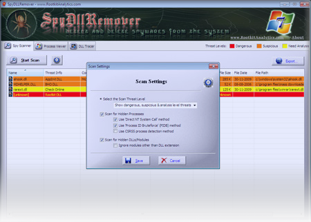 New SpyDLLRemover to Remove DLL from System Process