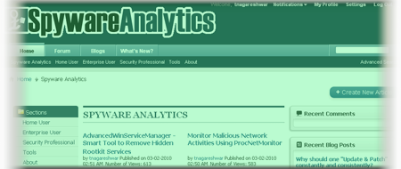 Join the SpywareAnalytics Forum