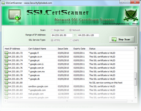 SSLCertScanner: New Tool to Scan for SSL Certificates on Network